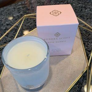 Kendra Scott Rose Quartz Small Candle - New